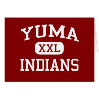 Yuma - Indians - Middle School - Yuma Colorado Greeting Card