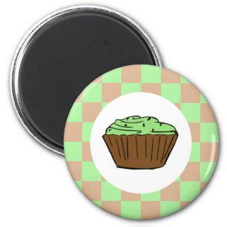 Yumalicious Mint Chocolate Cupcake 6 Cm Round Magnet