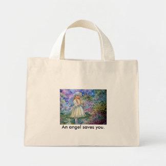 yumi sugai  angels, An angel saves you. Mini Tote Bag