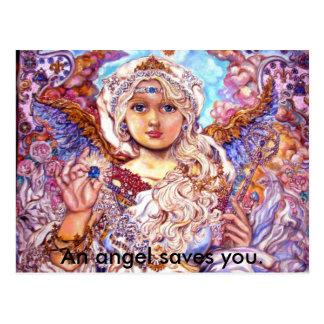 yumi sugai  angels, An angel saves you. Postcard