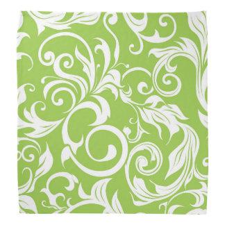 Yummy Avocado Green Floral Wallpaper Pattern Bandana