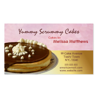 Yummy Cakes Red and Yellow business card
