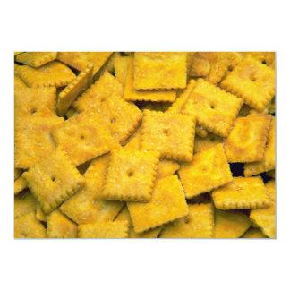 Yummy Cheese crackers 13 Cm X 18 Cm Invitation Card