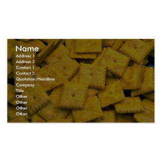 Yummy Cheese crackers Business Card Templates