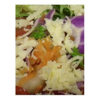 Yummy Cheese Salad Postcard