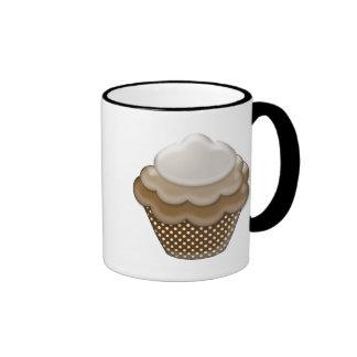 yummy chocolate cupcake ringer coffee mug
