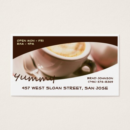 Yummy Coffee Business Cards