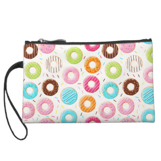 Yummy colorful sprinkles donuts toppings pattern wristlets