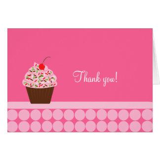 Yummy Cupcake Folded Thank you notes