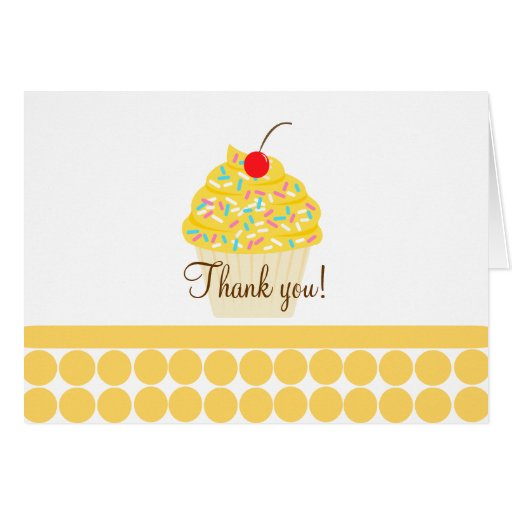 Yummy Cupcake Folded Thank you notes Cards