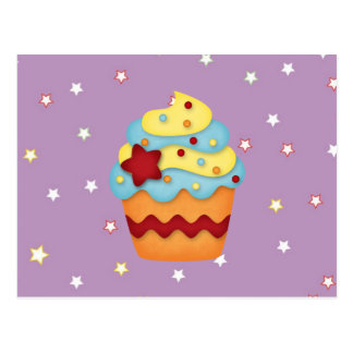 yummy cupcake postcard