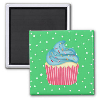 yummy cupcake square magnet