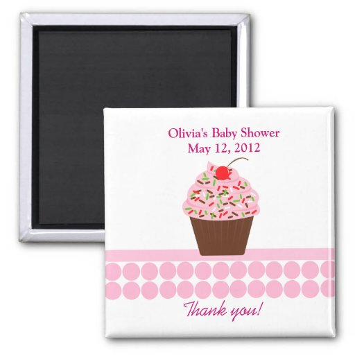 YUMMY CUPCAKES Baby Shower Favor Magnet