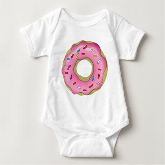 Yummy Donut with Icing and Sprinkles Baby Bodysuit