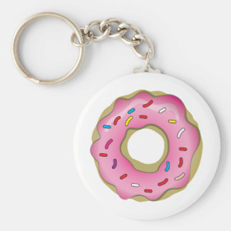 Yummy Donut with Icing and Sprinkles Key Ring