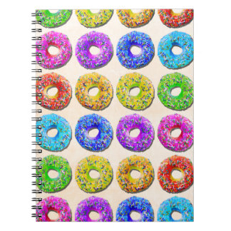 Yummy donuts pattern notebook