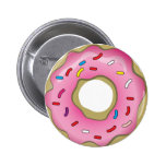 Yummy Doughnut with Icing and Sprinkles 6 Cm Round Badge