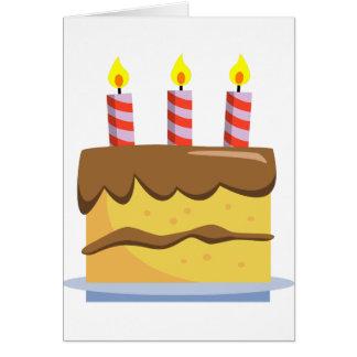 Yummy Food - Birthday Cake Greeting Card