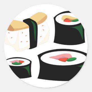 Yummy Food - Sushi Classic Round Sticker