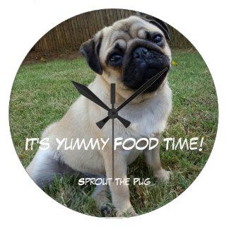 Yummy Food Time Wallclock