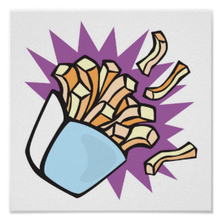 yummy french fries poster