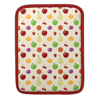 Yummy fruity fruits top chef foodie cherries apple iPad sleeves
