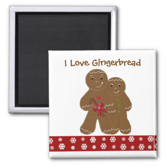 Yummy Gingerbread Men Square Magnet
