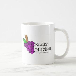 Yummy Grapes Grow in Vineyards Basic White Mug