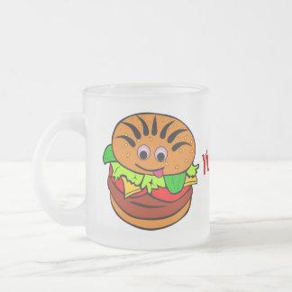 Yummy Hamburger Frosted Glass Mug