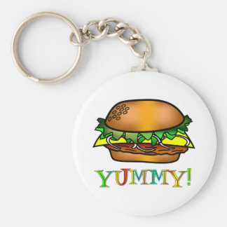 Yummy Hamburger Key Ring