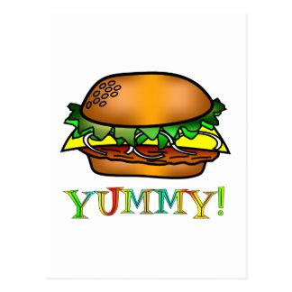 Yummy Hamburger Postcard