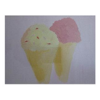 Yummy Ice Cream Postcard