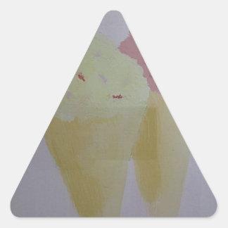 Yummy Ice Cream Triangle Sticker