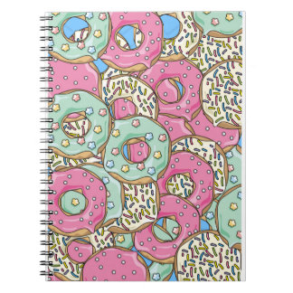 yummy iced donuts notebook