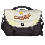 Yummy Kawaii Eggs and Bacon on a Breakfast Plate Laptop Messenger Bag