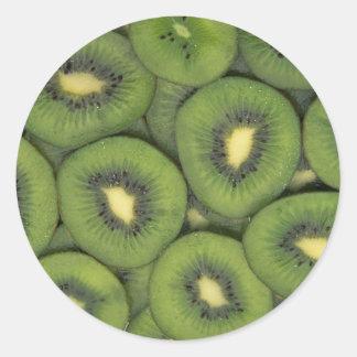 Yummy Kiwi fruit Classic Round Sticker