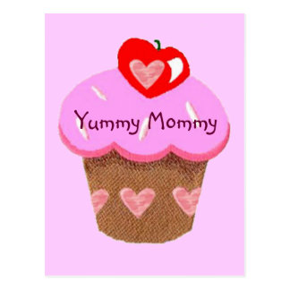 Yummy Mommy, Cupcake for Mom Postcard