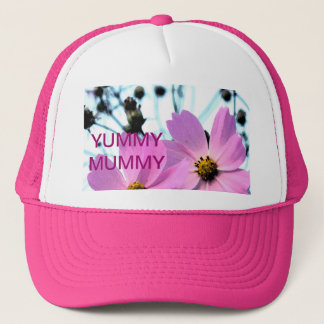 """YUMMY MUMMY "" FLORAL PRODUCTS TRUCKER HAT"