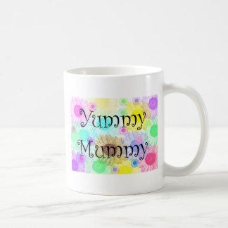 yummy mummy flowers basic white mug