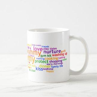 Yummy Mummy Wordle Basic White Mug