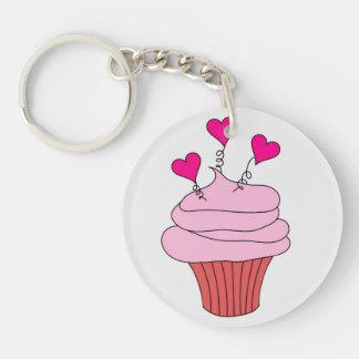 Yummy Pink Cupcake Key Ring