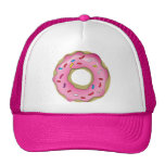 Yummy Pink Doughnut with Icing and Sprinkles Cap