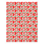 YUMMY RED APPLES COUNTRY FRUITS PATTERN BACKGROUND PERSONALIZED ANNOUNCEMENTS