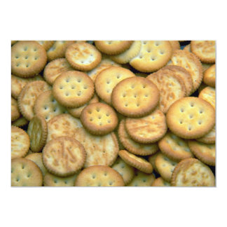 Yummy Snack crackers 13 Cm X 18 Cm Invitation Card