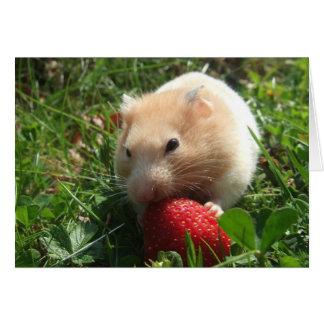 Yummy Strawberry Hammie Note Card