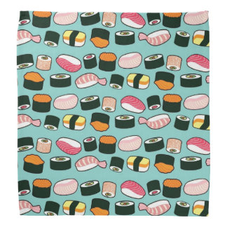 Yummy Sushi Fun Illustrated Pattern Bandana