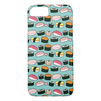 Yummy Sushi Fun Illustrated Pattern iPhone 8/7 Case