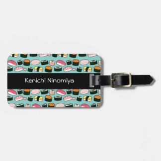 Yummy Sushi Fun Illustrated Pattern Luggage Tag