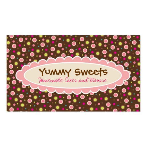 Create your own bakery baker business cards page15 yummy sweets business cards colourmoves