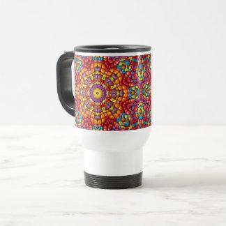 Yummy  Vintage Kaleidoscope   Travel Mug